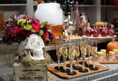 You don't have to raid the party supply store to throw a spirited Halloween bash. It can be as simple as throwing old white sheets over your furniture and crafting a handful of statement DIYs. We tapped DIY expert Erica Domesek, author and founder of the website P.S. - I Made This..., to combine creative forces for a legendary DIY Halloween bash. See how we pulled it together!