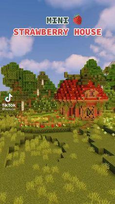 Minecraft Houses Survival, Minecraft Cottage, Minecraft House Tutorials, Cute Minecraft Houses, Minecraft Room, Minecraft Plans, Minecraft House Designs, Amazing Minecraft, Minecraft Tutorial