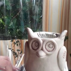 Совушка ...#ceramics #clay #ukraine #birds #owl #pottery #pot #life #summer #artstudio #kramatorsk