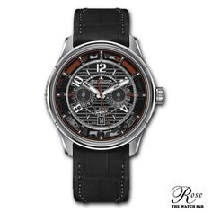 The Jaeger LeCoultre timepiece was created from their partnership with Aston Martin. The resemblance between the Aston Martin Vanquish and the is incredible. Audemars Piguet Watches, Hublot Watches, Aston Martin, Cool Watches, Watches For Men, Jaeger Lecoultre Watches, Watches Online, Luxury Watches, Chronograph