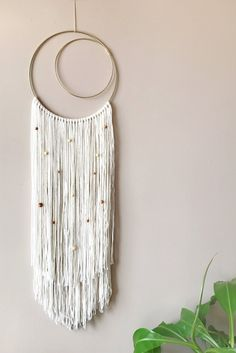 Items similar to Boho Wall Hanging Luna y Estrellas on Etsy - The Crafty Things - Macrame Yarn Wall Art, Yarn Wall Hanging, Diy Wall Art, Tapestry Wall Hanging, Diy Wall Decor, Wall Hangings, Macrame Design, Macrame Art, Macrame Projects