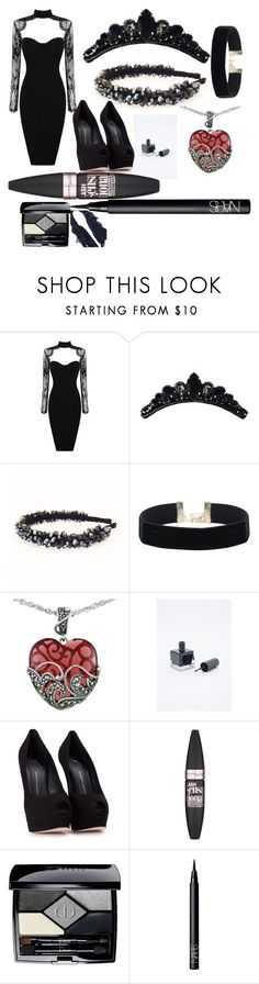 """""""The Queen"""" by awseome-girl-5953 ❤ liked on Polyvore featuring Lord & Taylor, Giuseppe Zanotti, Maybelline, Christian Dior and NARS Cosmetics"""