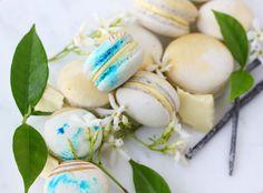 Eggless and Vegan Vanilla and Jasmine Macarons