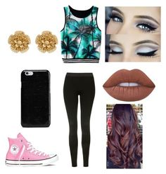 """""""Untitled #734"""" by glamor234 on Polyvore featuring Topshop, Converse, Maison Margiela, Miriam Haskell and Lime Crime"""