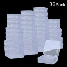 DOMIRE Plastic Beads Containers Clear Mini Square Bead Organizer Container Storage Box with Lids for Beads Pills Jewelry Findings, 3 Sizes >>> Visit the image link more details. (This is an affiliate link) Bead Organization, Bead Storage, Container Organization, Craft Storage, Storage Containers, Storage Ideas, Storage Boxes With Lids, Box With Lid, Game Pieces