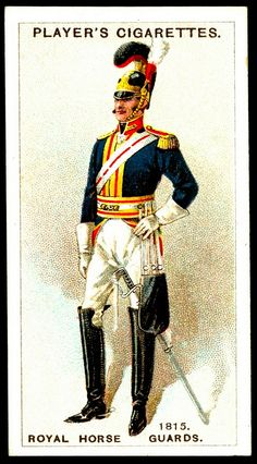 "Player's Cigarette Card - rgt. ""Royal Horse Guards"""