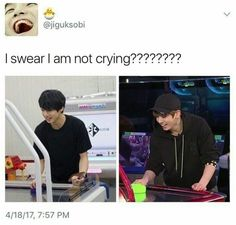 Aww so cute >< isn't it touching that even after all these years and all the changes that have happened to BTS Jungkook's laughing face is still the same ❤️