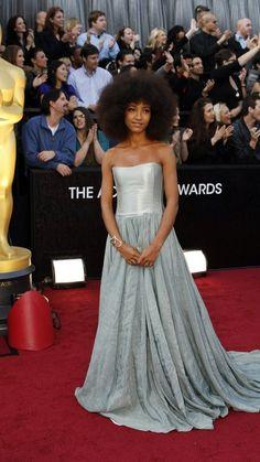 Esperanza Spalding arrives at the 84th Academy Awards.