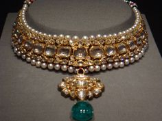 Jewelry from the Maharaja collection displayed a the AGO, Toronto
