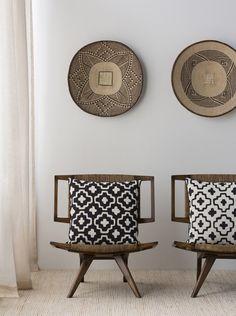 Afrika inspirerade textiler, konstverk och inredningsprylar
