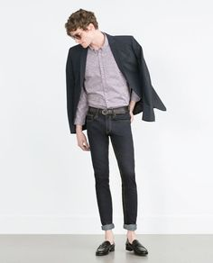 Image 1 of TWO-TONE CHECK SHIRT from Zara