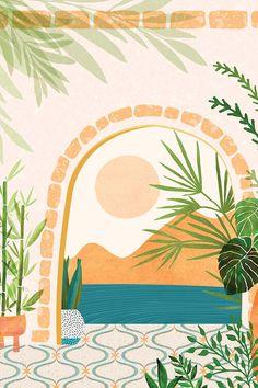 Baja California Villa Clear Acrylic Organizer/serving Tray by Moderntropical - Medium 15 x Painting Inspiration, Art Inspo, Tropical Art, Modern Tropical, Tropical Paintings, Posters Vintage, Minimalist Art, Aesthetic Art, Framed Art Prints