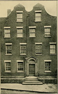 "A ""Dutch Billy"" style house on Jervis St, Dublin (none exist there today.) Stafford St is now Wolfe Tone St."