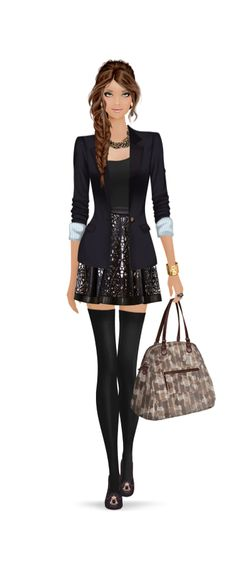 Fashion Girl / Ragazza alla moda - Art by Covet Fashion Game