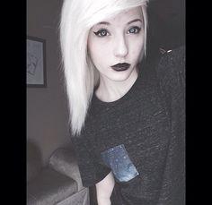 love the daring black lipstick