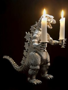godzilla candle holder