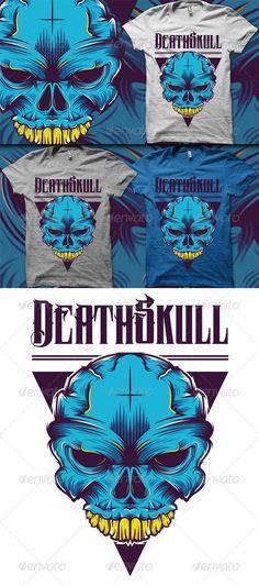 Skull T-Shirt Template Vector EPS, AI. Download here: http://graphicriver.net/item/skull-tshirt/5788849?ref=ksioks