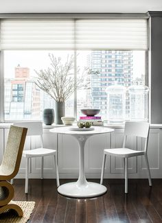 We toured the Manhattan office of interior designer Mara Silber. See how she transformed the space to suit her team of three Cool Office Space, Office Spaces, Workspace Inspiration, Prefab Homes, Interior Design Studio, Built In Storage, Humble Abode, Interior And Exterior, Mid-century Modern