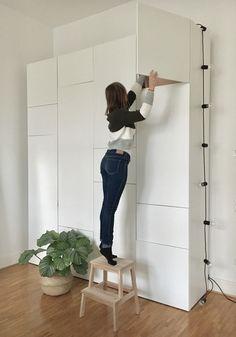 makkari Ikea Platsa create your own combination nordic minimalist Closet Minimalista, Black Office Furniture, Ikea Bed Hack, Ikea Closet, Ikea Office, Best Ikea, Wooden Diy, Scandinavian Style, Interior Inspiration