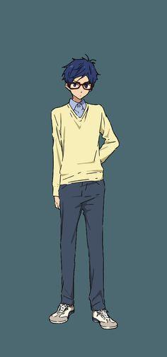 Rei Ryugazaki from the movie high speed starting days (free! Rei Ryugazaki, Rei Free, Aho Girl, Rin Matsuoka, Tsurezure Children, Primer Video, Love Stage, Free Eternal Summer, Anime Watch