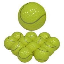 Novelty Tennis Golf Balls by Novelty. $14.95. Tennis Golf Balls - Tennis Golf Balls are the perfect blend of Tennis and Golf!
