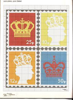 stamp pillow