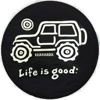"Life is Good ""Native"" Jeep Tire Cover (available in sizes 28""-33"") $50"