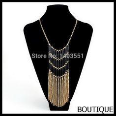 Nuevo diseño de moda Boho Chic Multicolor Stacking capas elegante Bugle perlas de resina de oro trenzado cadena de largo Fringe collar(China (Mainland))