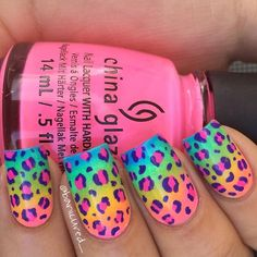 Want some ideas for wedding nail polish designs? This article is a collection of our favorite nail polish designs for your special day. Neon Nails, Love Nails, Diy Nails, Pretty Nails, Uñas Color Neon, Bright Nail Designs, Bright Nail Art, Kid Nail Designs, Bright Nails For Summer