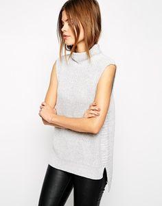 Image 1 of Warehouse Sleeveless High Neck Sweater