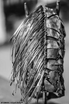 IRON HORSE SCULPTURE METAL  Numan human humain