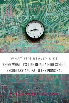 What it's like being a high school secretary and PA to the principal - Tyranny of Pink Public School, High School, School Secretary, Just Be You, What Is Like, Blogging, Career, Posts, Pink