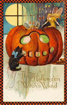 Halloween Winsch Fairy Black Cat PC Magnet H53 | eBay
