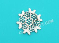 Macaroni Snowflake -1 Craft - Simple Art Ideas How to Make Snowflakes