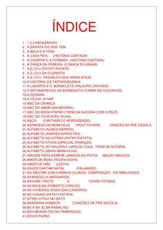 Letras de músicas cd infantil 2010 Mascara, Education, 1, Toddler Activity Board, Mascaras, Onderwijs, Learning