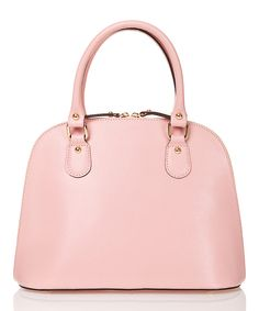 Look at this Rosa Dome Crosshatch Leather Satchel on #zulily today!