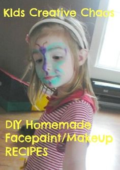 Make your own edible facepaint with things in your pantry! #howtomakefacepaint #halloweenmakeup