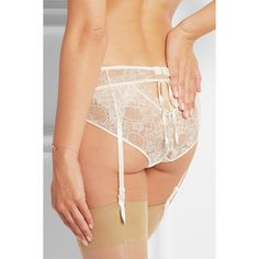 Heidi Klum Intimates Valerie lace suspender belt (91 CAD) ❤ liked on Polyvore featuring intimates, suspender belt y garter belt