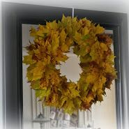 Making a Real Leaf Wreath and a Guest Post over at Junk Chic Cottage