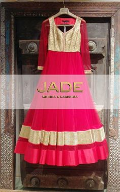 Look as Radiant as Aishwarya Rai Bachchan did in JADE with this Eyecatching Raspberry Anarkali.. Perfect for the Star of the Show!