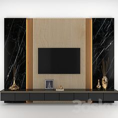 3d models: TV Wall - tv wall Modern Tv Unit Designs, Modern Tv Wall Units, Living Room Tv Unit Designs, Tv Wall Unit Designs, Modern Tv Room, Tv Unit Decor, Tv Wall Decor, Wall Tv, Room Partition Designs