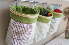 DIY: Embroidery Hoop Storage Bins Cute idea for a craft room.if I had a craft room. Do It Yourself Organization, Organization Hacks, Organizing Ideas, Basket Organization, Ideas Para Organizar, Ideias Diy, Storage Bins, Storage Ideas, Fabric Storage