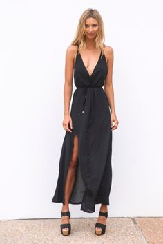 online shopping for STATE Tie Waist Jumpsuit from top store. See new offer for STATE Tie Waist Jumpsuit Backless Jumpsuit, Black Jumpsuit, Dress Black, Ruffle Jumpsuit, Bodycon Dress, Black Maxi, Black Ruffle, Navy Dress, Long Jumpsuits