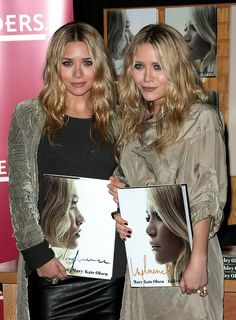 Mary-Kate and Ashley Olsen's book signing of 'Influence' #olsentwins #style #fashion