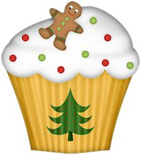 Christmas Cake Pictures Clip Art : 1000+ images about painted cupcakes on Pinterest ...