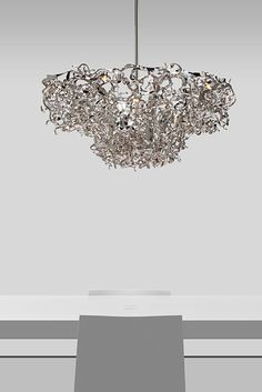 Be inspired by our contemporary lighting collections, handmade in our atelier. Since designer William Brand created over 30 designer lighting ► Contemporary Chandelier, Contemporary Design, Lighting Design, Objects, Sparkle, Ceiling Lights, Sculpture, Eyes, Crystals