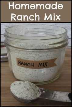Homemade Ranch Mix- will have to try this one minus the MSG. Last one I tried was not good