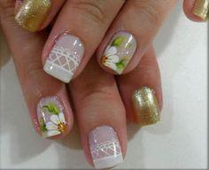 39 beauty nail spring floral to copy asap 002 Cute Nail Art, Beautiful Nail Art, Gorgeous Nails, Pretty Nails, Fall Nail Art Designs, Toe Nail Designs, Nail Polish Designs, Spring Nails, Summer Nails