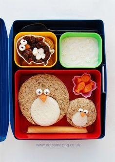 Eats Amazing UK - Fun Penguin Themed Kids Bento School Lunch Idea - check the post out for more penguin themed food!