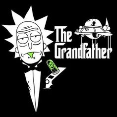 Rick The Godfather poster. Rick and Morty Halloween Wallpaper Iphone, Halloween Backgrounds, Cartoon Wallpaper, Rick And Morty Drawing, Rick And Morty Tattoo, Rick And Morty Quotes, Rick And Morty Poster, Rick And Morty Crossover, Crea Design